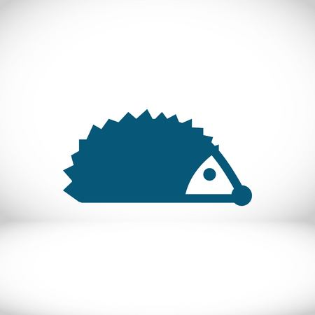 the spikes: hedgehog icon stock vector illustration flat design