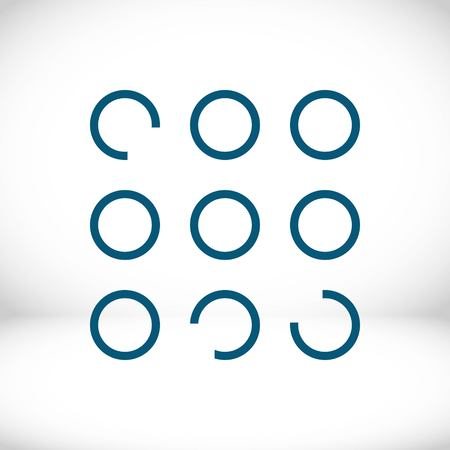 buttons of the program icon stock vector illustration flat design