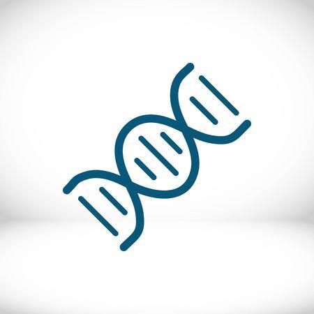 DNA icon stock vector illustration flat design