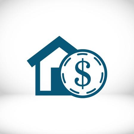 money home dollar icon stock vector illustration flat design