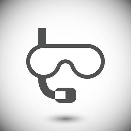 underwater Snorkelling icon stock vector illustration flat desig Illustration