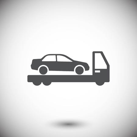 Tow truck icon stock illustration flat design