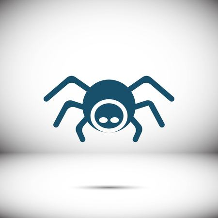 Spider icon stock vector illustratie plat ontwerp