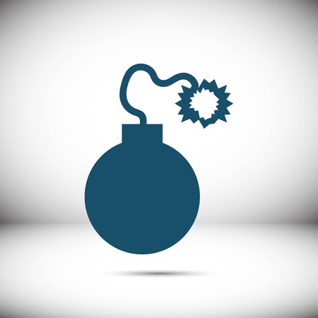 Bomb icon stock vector illustration flat design Illustration