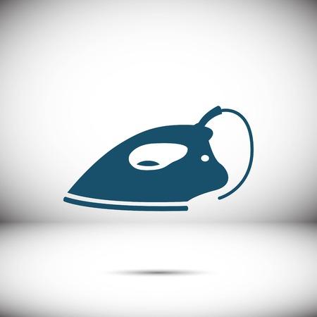 steam iron: Electric iron icon stock vector illustration flat design