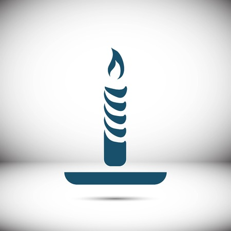 Candle icon stock vector illustration flat design Illustration