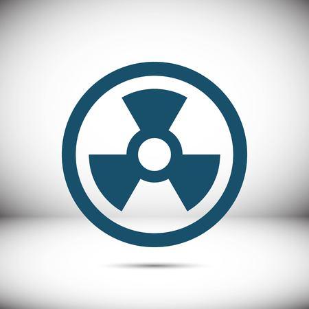 Radioactive icon stock vector illustration flat design