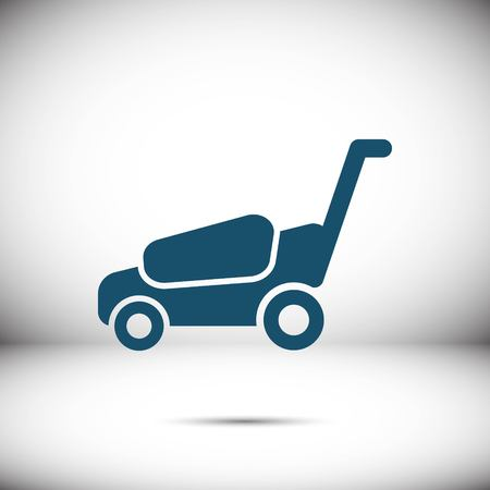 lawnmower icon stock vector illustration flat design Illustration