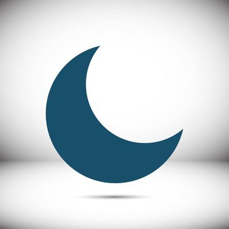 Diseño plano del icono de la luna stock vector ilustración