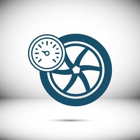 air gauge: Air pressure sensor icon stock vector illustration flat design
