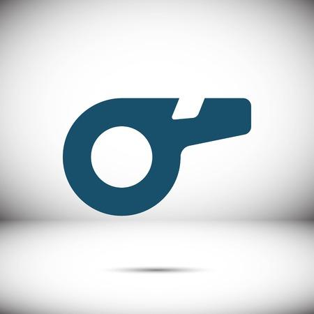 whistle icon stock vector illustration flat design