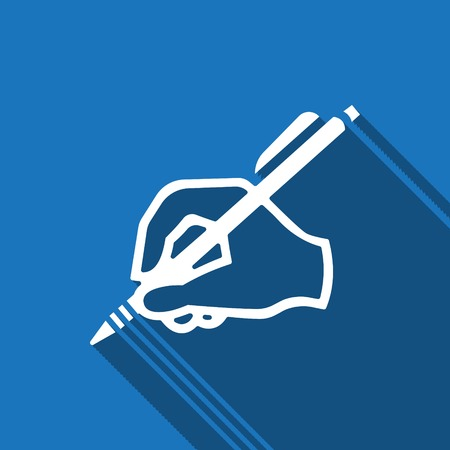 hand writing icon stock vector illustration flat design Illustration