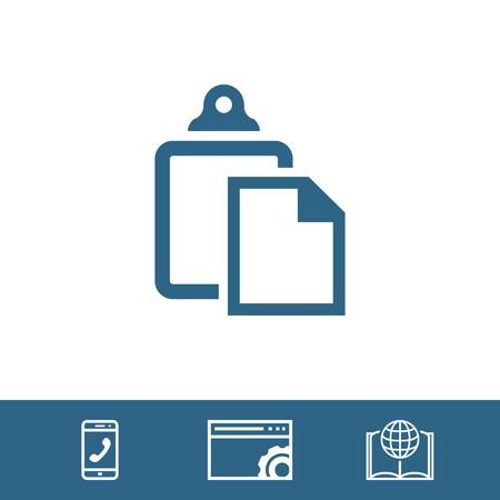 copy paste: paste icon stock vector illustration flat design