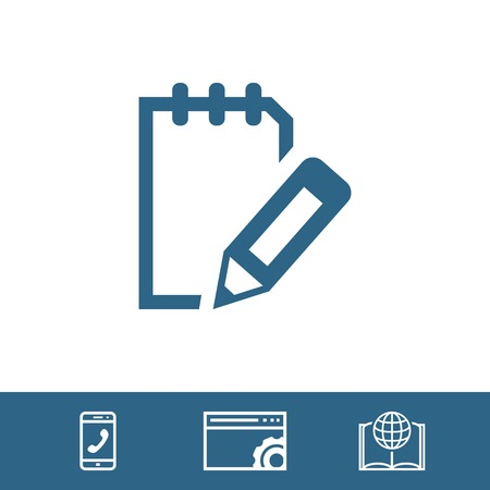 note pad: notepad icon stock vector illustration flat design