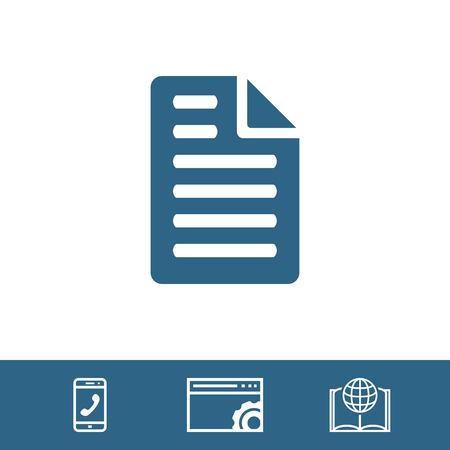 icons site search: file icon stock vector illustration flat design
