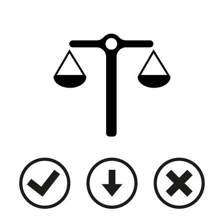 scale icon: Scales icon stock vector illustration stock vector illustration flat design
