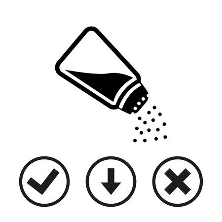 salt free: Salt icon  stock vector illustration flat design