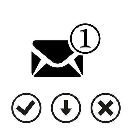 contact info: Envelope Mail icon, vector illustration. Flat design style Illustration