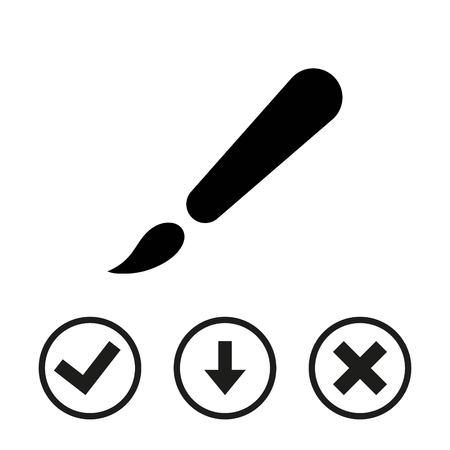 colors paint: Brush icon stock vector illustration flat design Illustration
