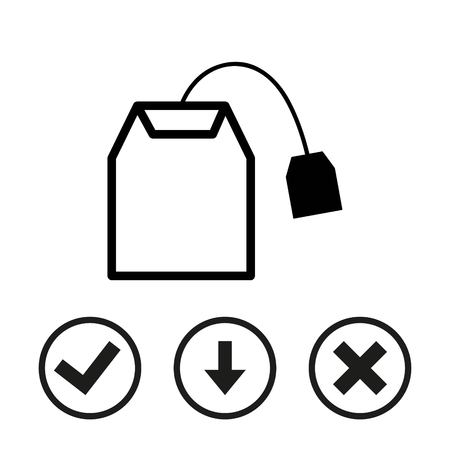 english culture: Tea bag icon stock vector illustration flat design Illustration