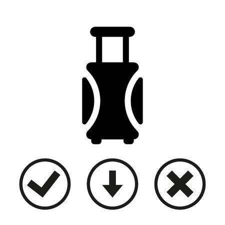 Reis tas pictogram stock vector illustratie plat ontwerp