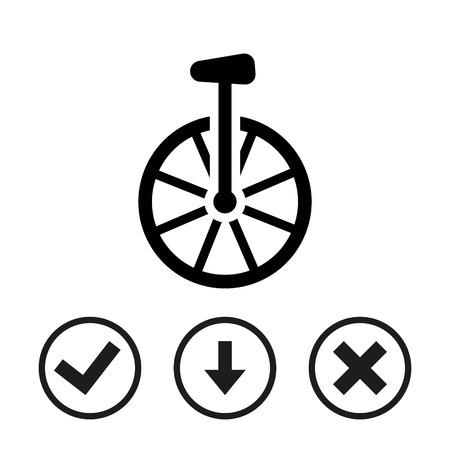 uni: Unicycle icon stock vector illustration flat design