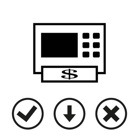 auto service: ATM icon stock vector illustration flat design