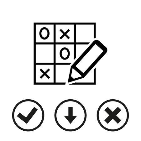 TIC TAC toe icon stock vector illustration flat design