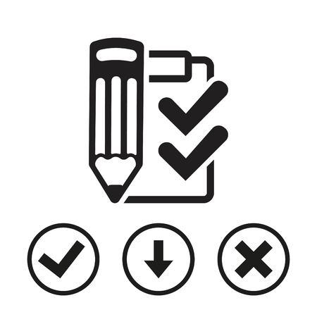 notebook: Checklist  icon stock vector illustration flat design