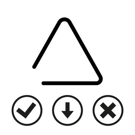 struck: Musical metal triangle icon stock vector illustration flat design