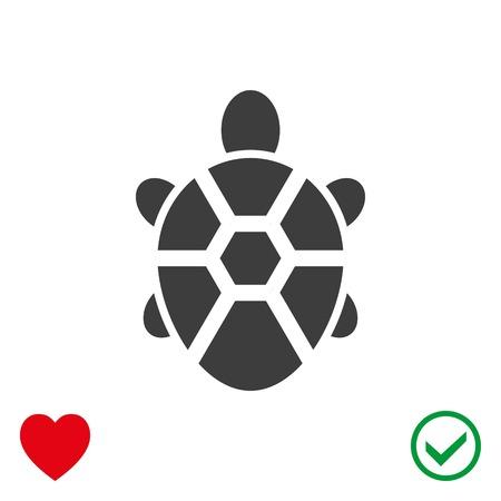 land turtle: Turtle icon stock vector illustration flat design. Illustration