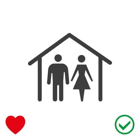 building site: Home icon stock vector illustration flat design.