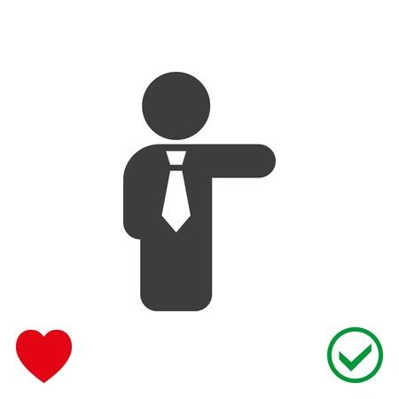 man profile: Man icon stock vector illustration flat design.