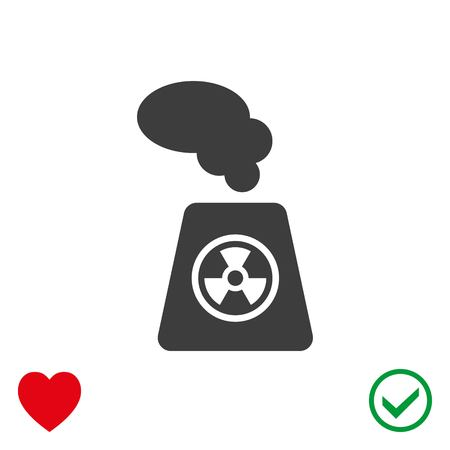 plutonium: Radioactive icon stock vector illustration flat design.