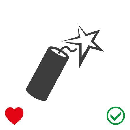 dangerous: dynamite icon stock vector illustration flat design