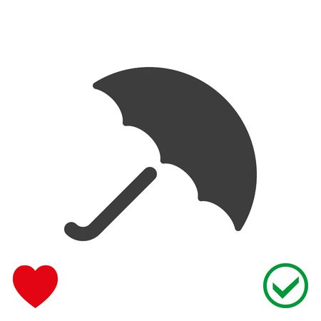 umbrella icon illustration flat design.