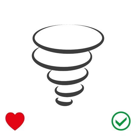 Tornado icon stock vector illustration flat design Illustration