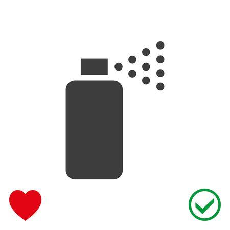 odors: Spray icon stock vector illustration flat design Illustration