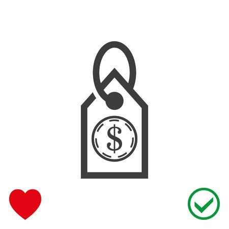 Tag icon stock vector illustration flat design Illustration