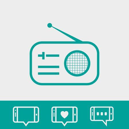 radio icon stock vector illustration flat design