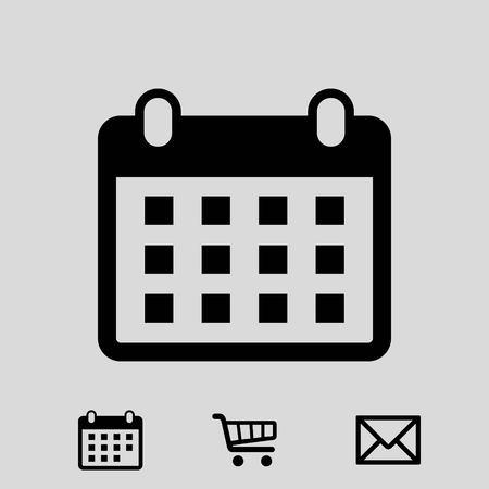 page layout: calendar icon stock vector illustration flat design Illustration