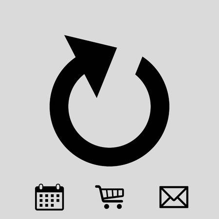 リロード アイコン株式ベクトル イラスト フラット デザイン  イラスト・ベクター素材