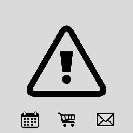 dangerous: alert icon stock vector illustration flat design