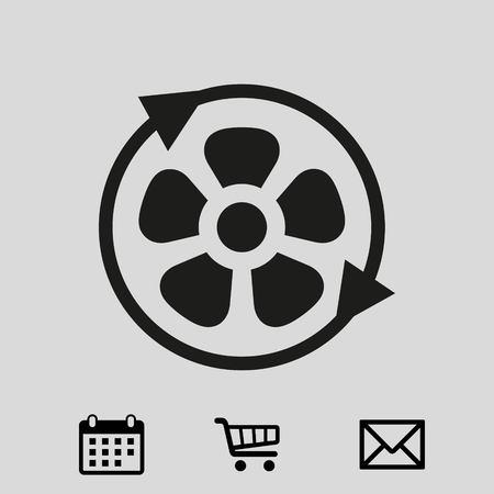 air: fan air propeller icon stock vector illustration flat design Illustration