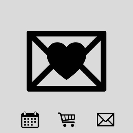 Valentine icon stock vector illustration flat design