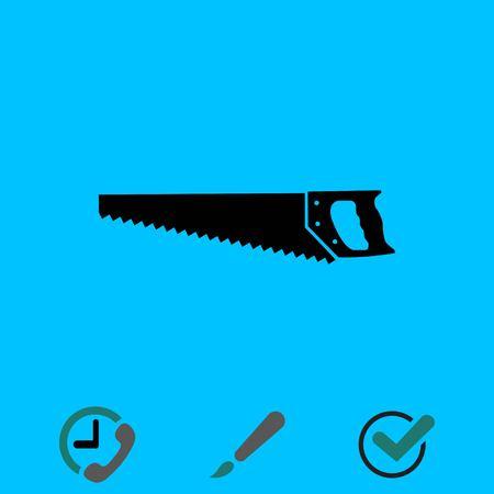 Hacksaw icon stock vector illustration flat design