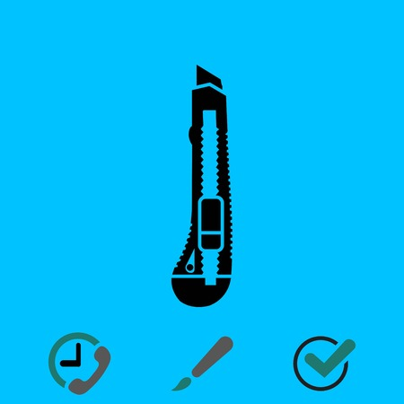 Knife icon stock vector illustration flat design Illustration