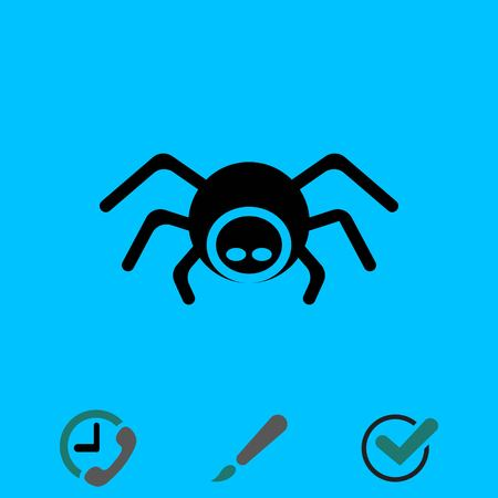 Spider icon stock vector illustration flat design Illustration