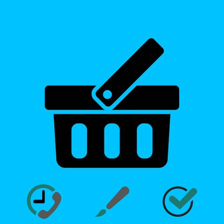 add to cart: bascet icon stock vector illustration flat design