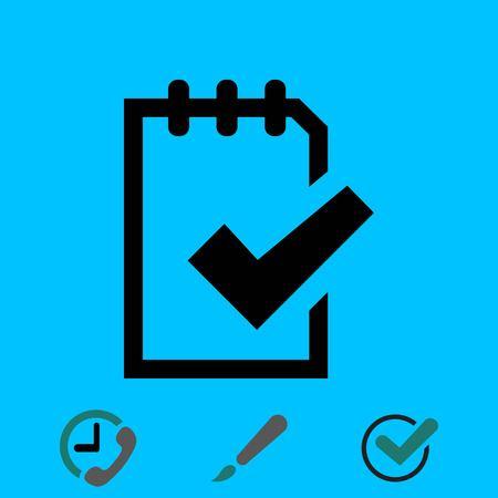 todo list: Checklist icon stock vector illustration flat design Illustration
